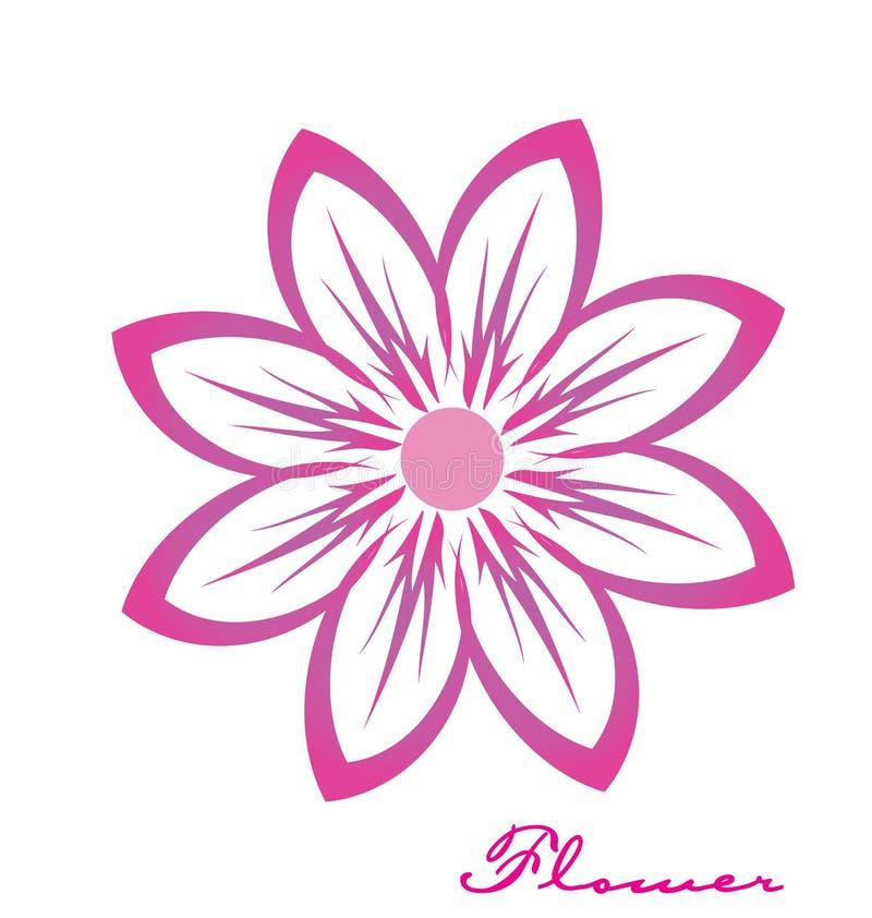 Logotipo rosado de la imagen de la flor ilustración del vector
