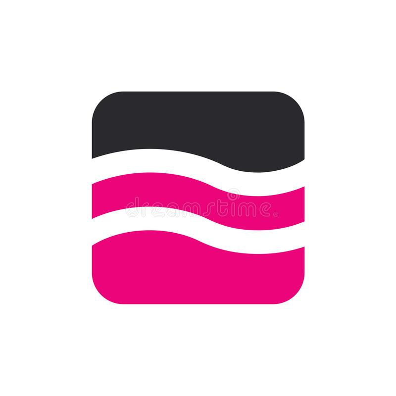 Logotipo rosado del agua, diseño del ejemplo del vector ilustración del vector