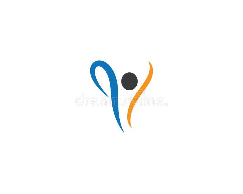 Logotipo saud?vel da vida ilustração royalty free