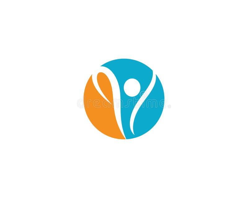 Logotipo saud?vel da vida ilustração stock