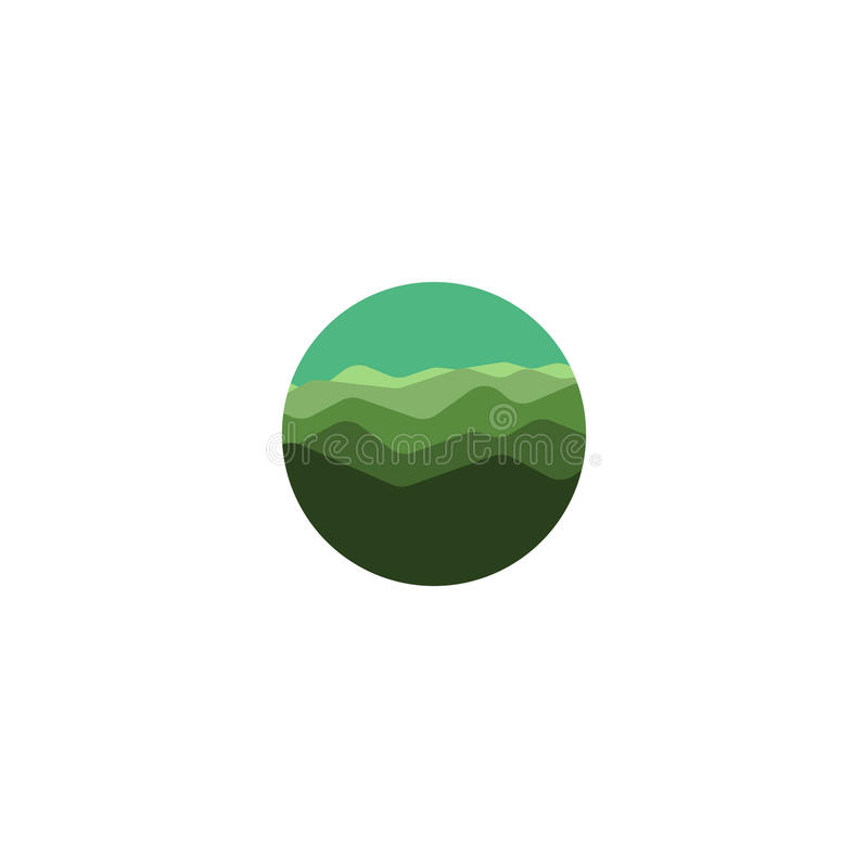 Download Logotipo Selvagem Isolado Do Panorama Da Natureza Da Cor Verde De  Forma Redonda Logotype Das