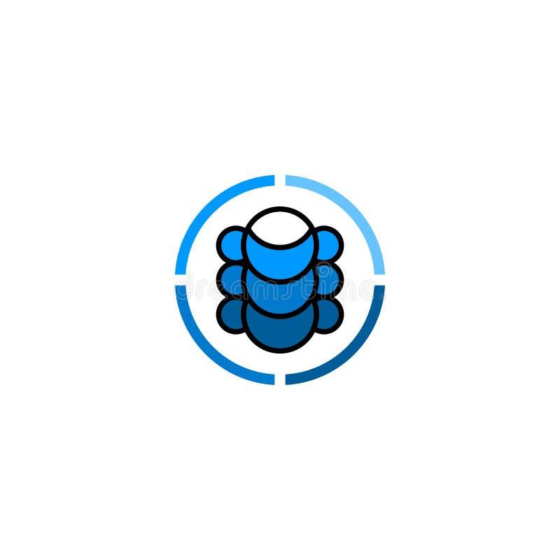 Logotipo simple abstracto de la espina dorsal ilustración del vector