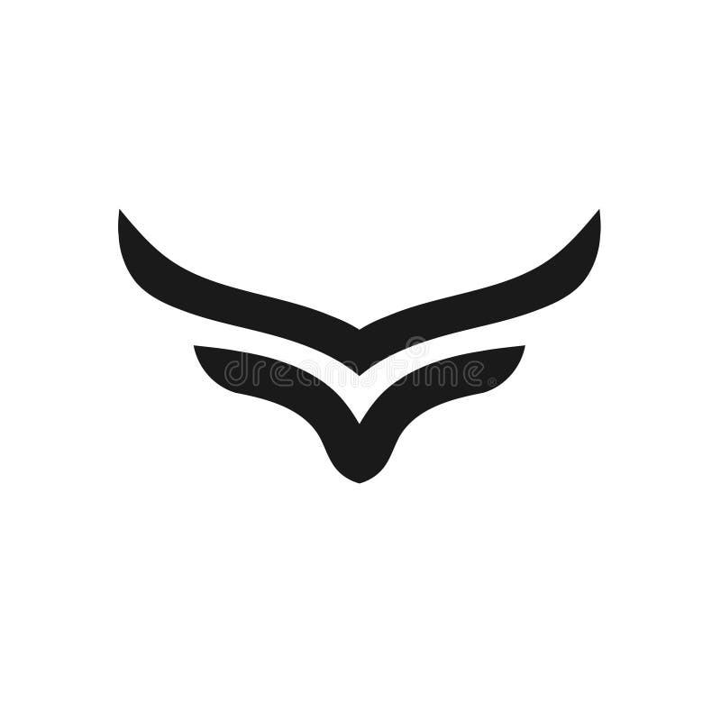 Logotipo simple abstracto del vector del cuerno ilustración del vector