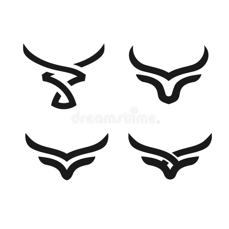 Logotipo simple abstracto del vector de la cabeza de Bull libre illustration