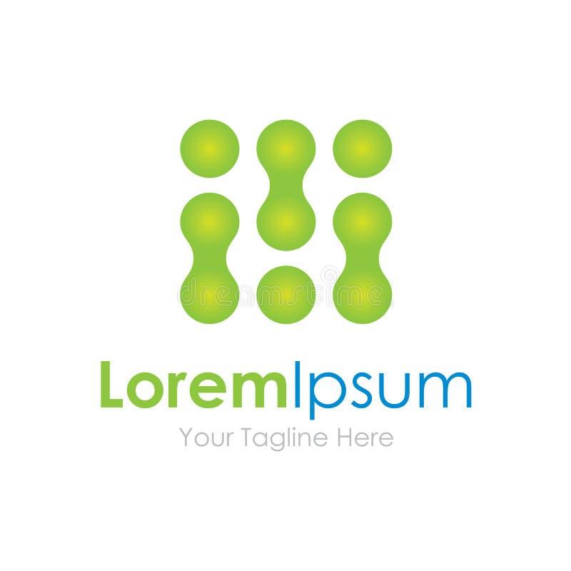 Logotipo simple de los elementos de la codificación del icono verde extraño de la tecnología libre illustration