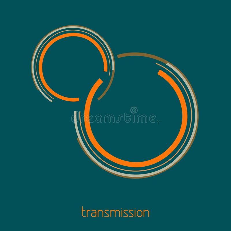 Logotipo simple para dirigir, mecánicos, conexión de la transmisión stock de ilustración