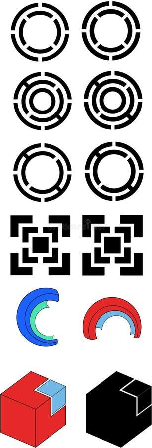 Logotipo simples fotos de stock royalty free