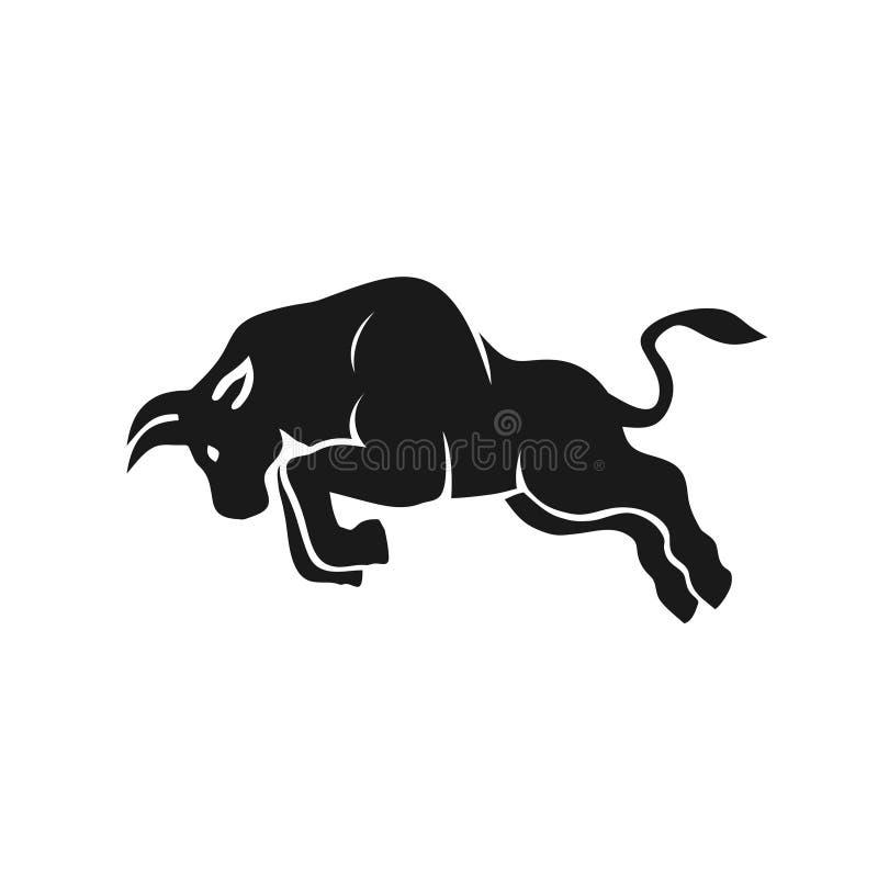 Logotipo simples abstrato do vetor do touro ilustração do vetor