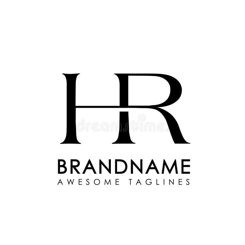 Logotipo simples da hora das letras iniciais ilustração royalty free