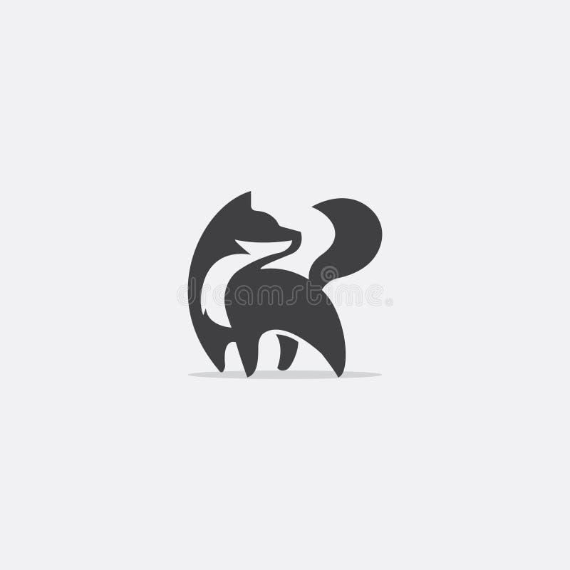 Logotipo simples da raposa ilustração royalty free