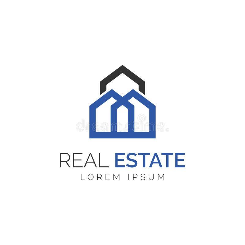 Logotipo simples de Real Estate do monograma foto de stock
