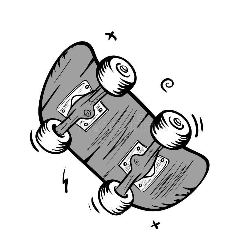 Logotipo skateboarding aut?ntico no estilo da velha escola ilustração do vetor