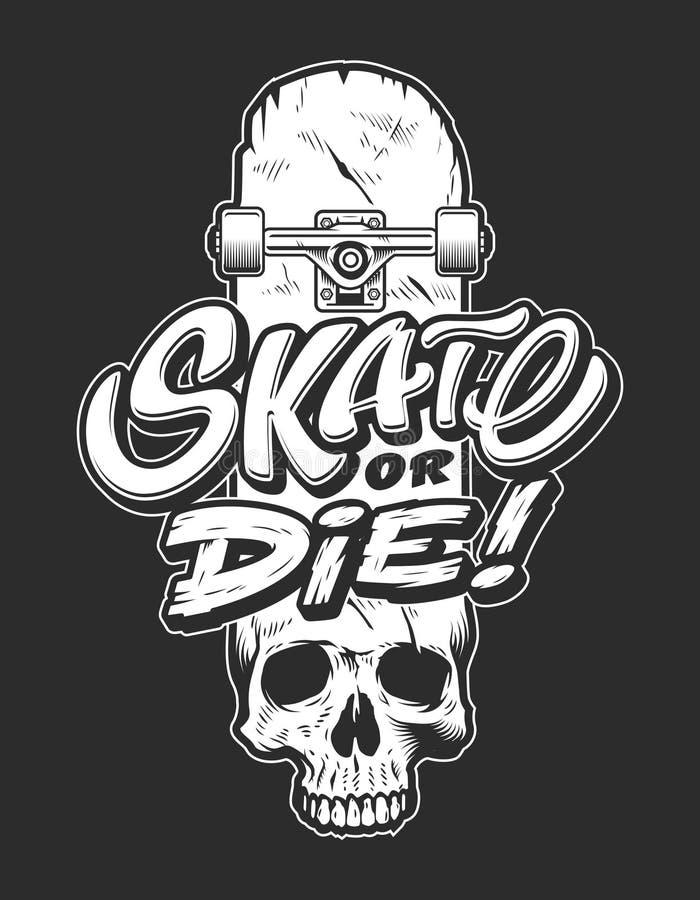 Logotipo skateboarding do esporte do vintage ilustração royalty free
