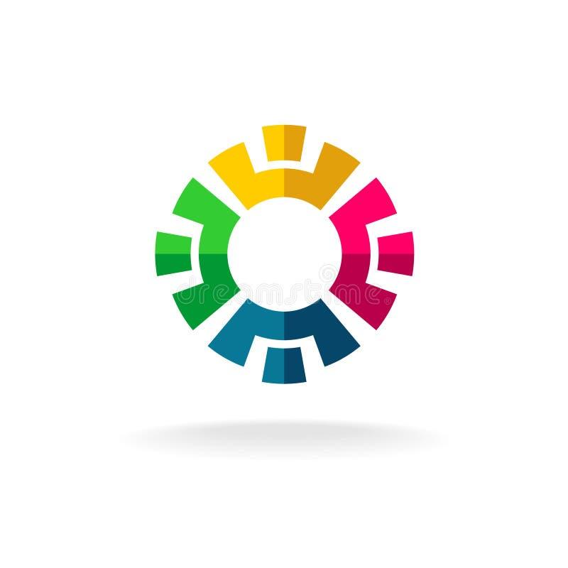 Logotipo social da rede ilustração stock