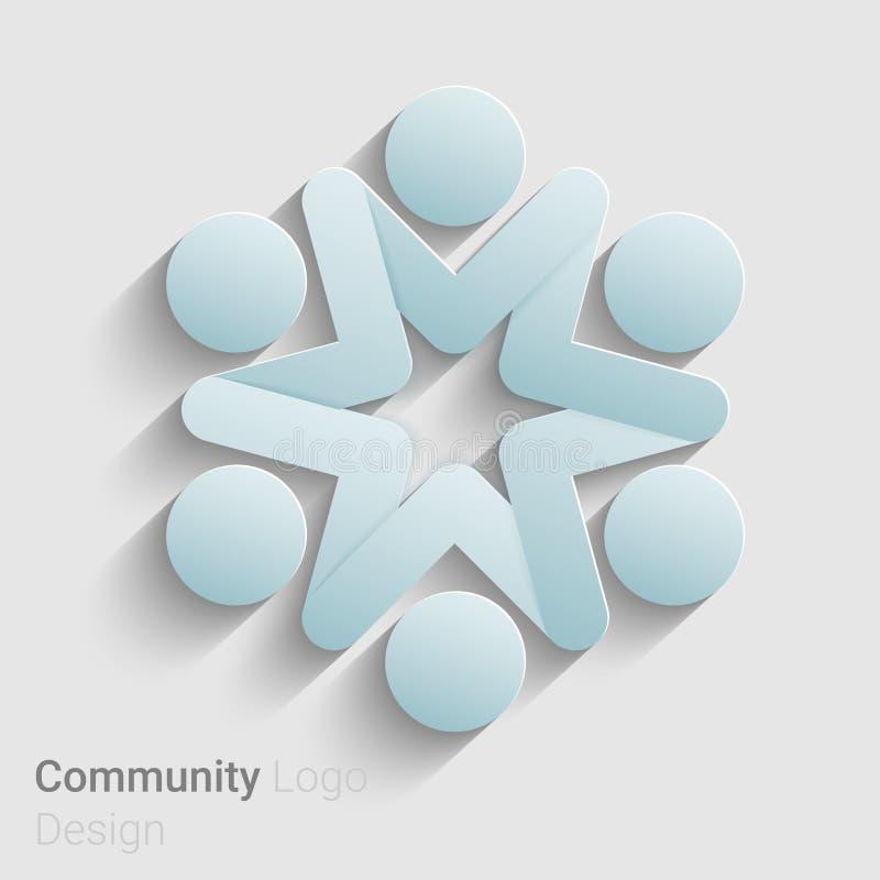 Logotipo social da rede ilustração do vetor