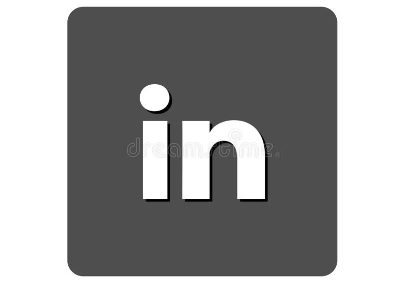 Logotipo social dos meios de Linkedin ilustração stock