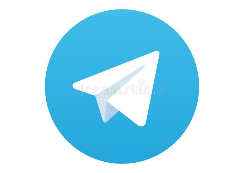 Logotipo social dos meios do telegrama ilustração stock
