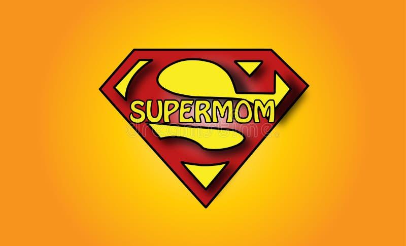 Logotipo super da mamã ilustração stock
