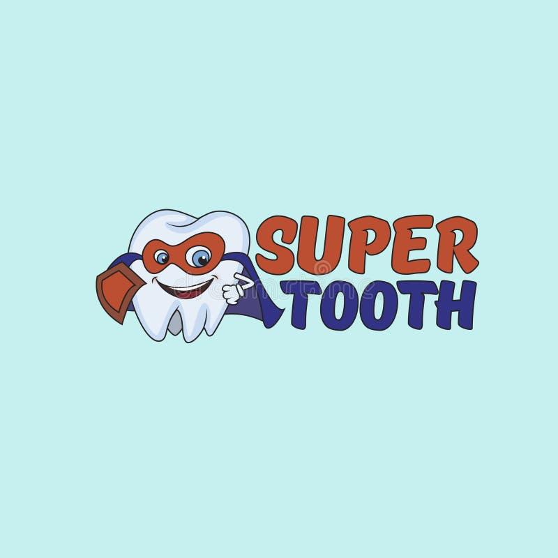 Logotipo super do protetor do dente ilustração stock