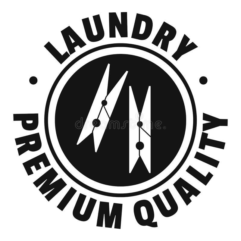 Logotipo superior da qualidade da lavanderia, estilo simples ilustração royalty free