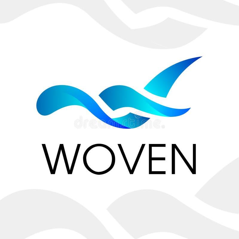 Logotipo tecido água foto de stock royalty free