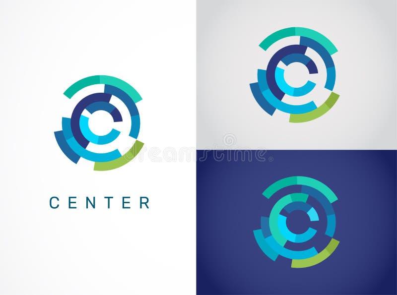 Logotipo - tecnología, icono de la tecnología y símbolo stock de ilustración