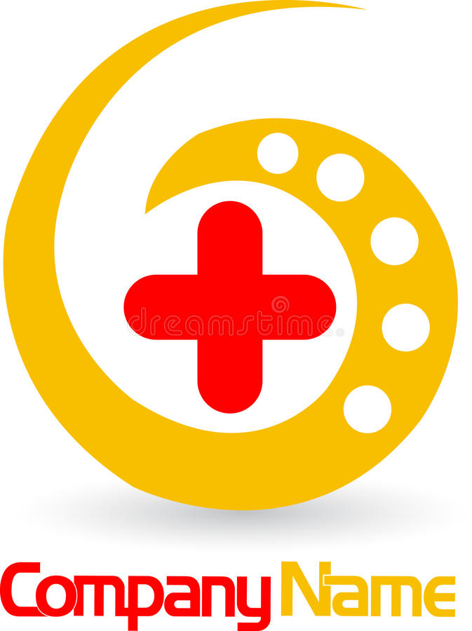 Logotipo transversal médico ilustração stock