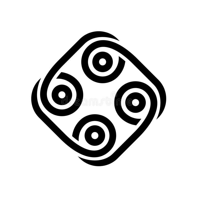Logotipo tribal abstracto del negro del estilo ilustración del vector