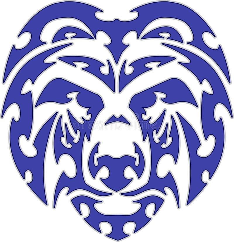 Logotipo tribal da mascote da cabeça do urso ilustração do vetor