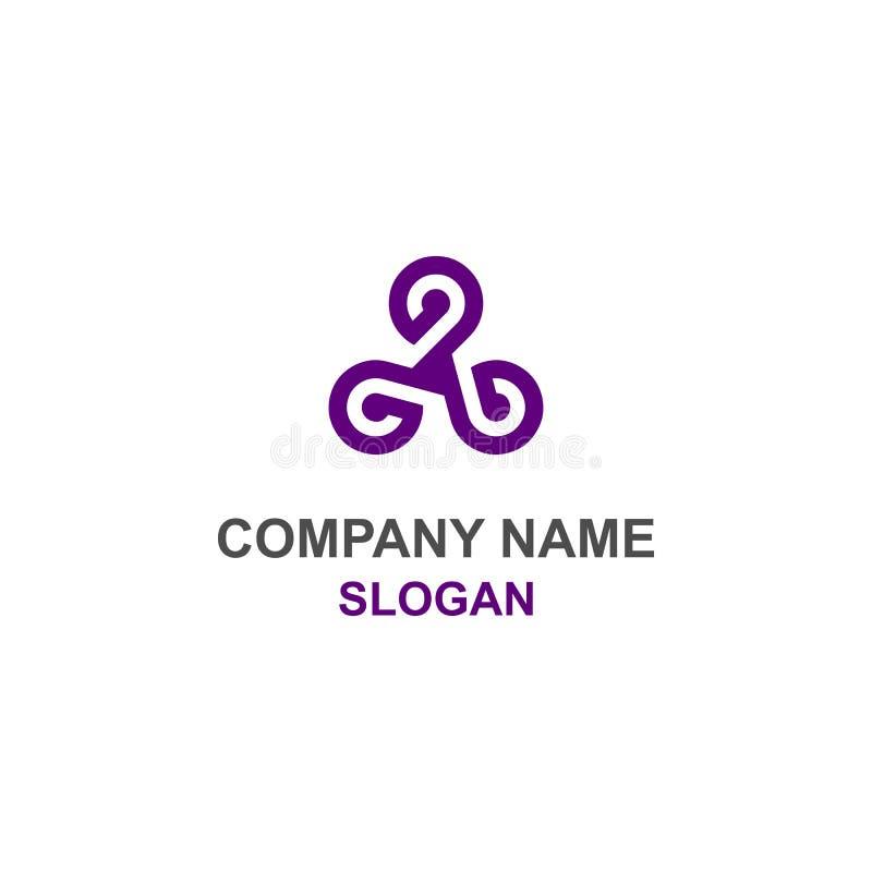 Logotipo triplo da inicial da letra de G ilustração stock