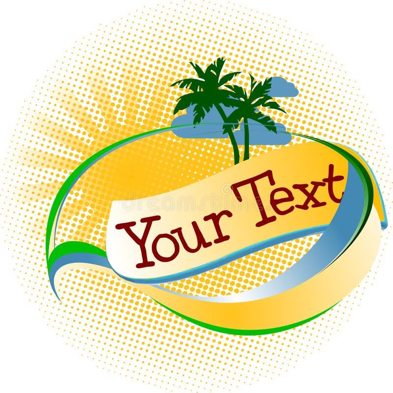 Logotipo tropical das férias ilustração do vetor