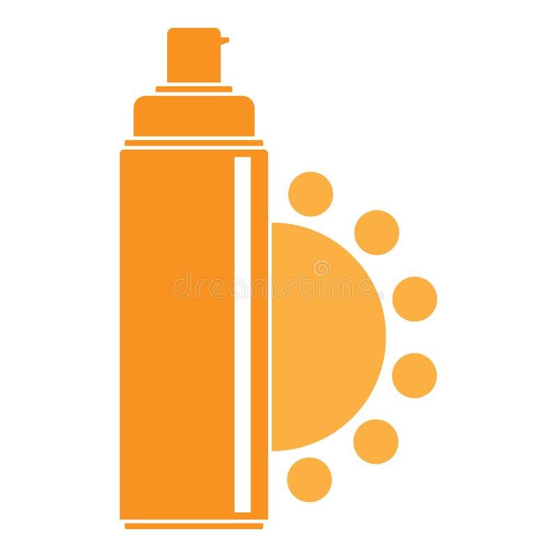 Logotipo ultravioleta del espray, estilo plano libre illustration