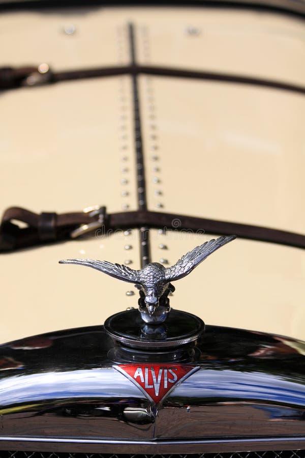 Logotipo velho do carro do temporizador de Alvis imagem de stock royalty free