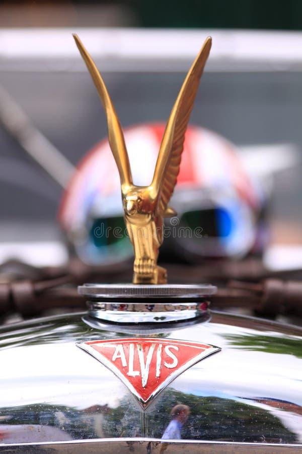 Logotipo velho do carro do temporizador de Alvis foto de stock royalty free