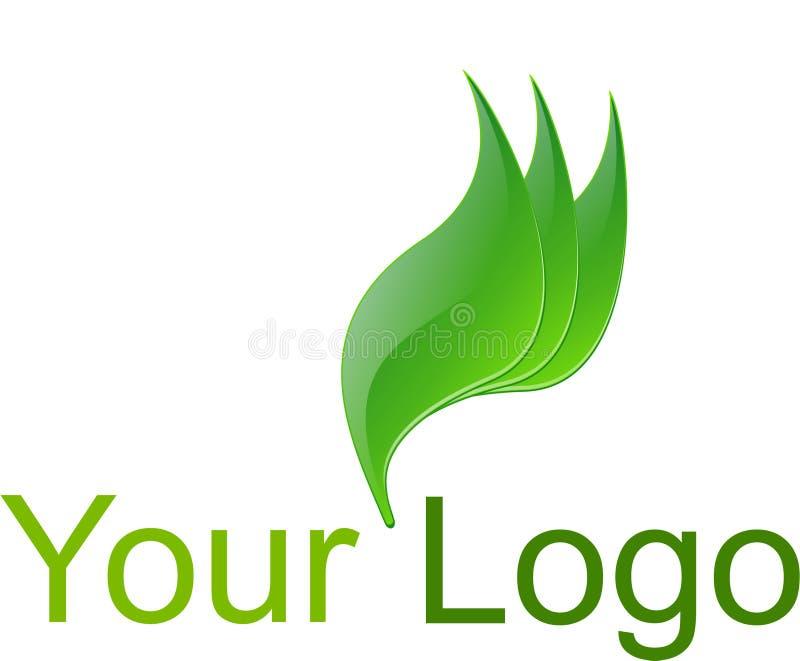 Logotipo verde ilustração royalty free