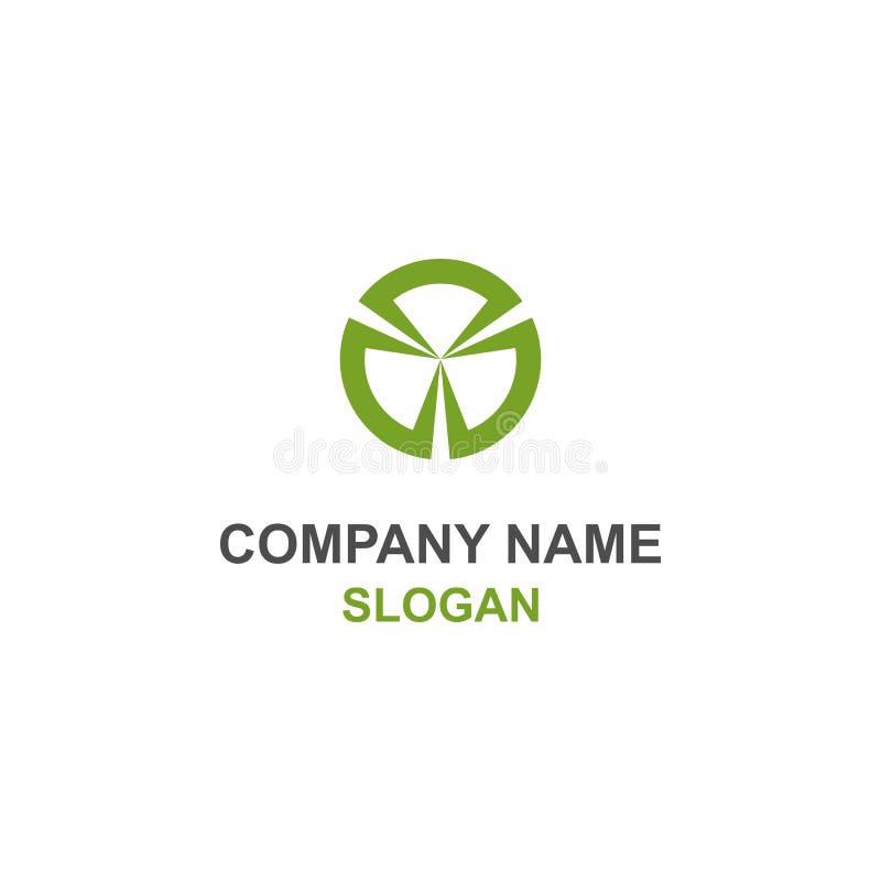 Logotipo verde abstracto del círculo ilustración del vector