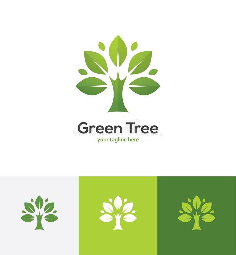 Logotipo verde abstrato da árvore ilustração royalty free
