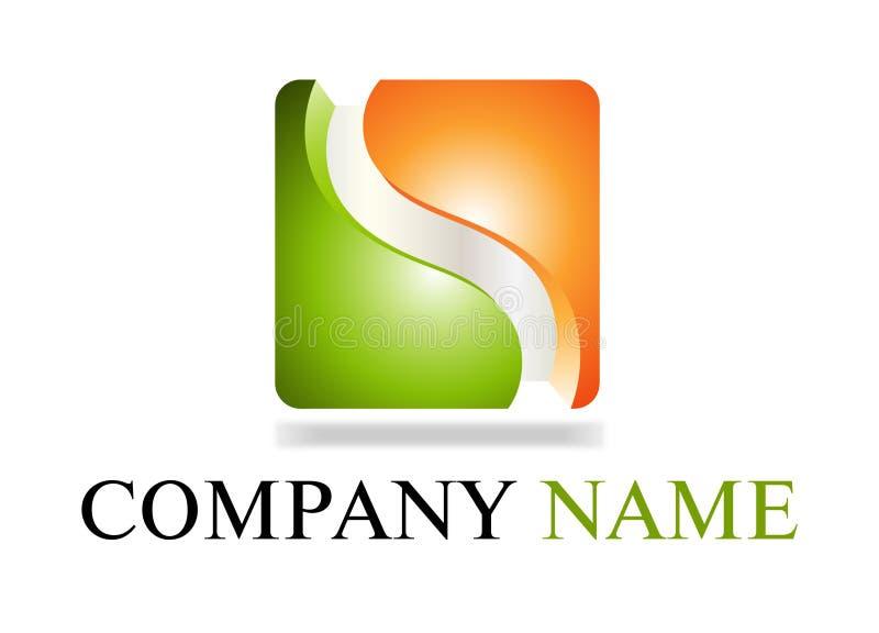 Logotipo verde & alaranjado ilustração royalty free