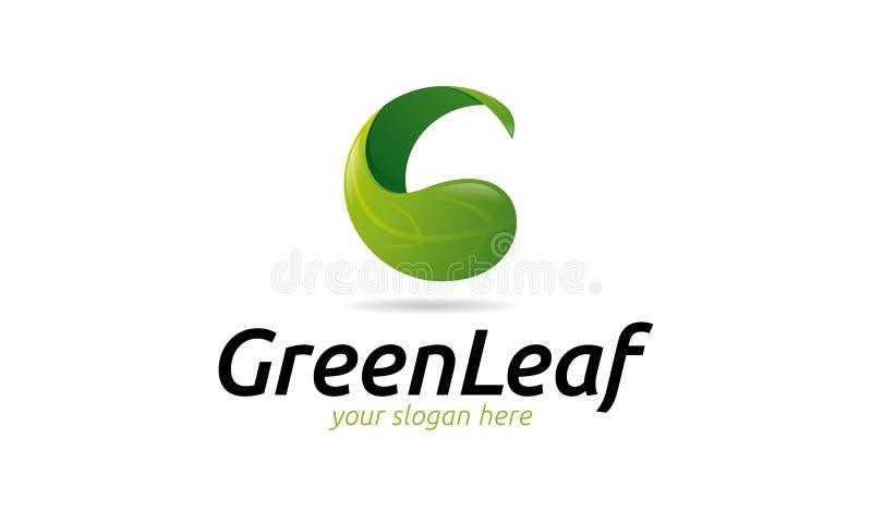 Logotipo verde da folha ilustração royalty free