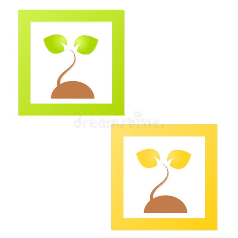 Logotipo verde da natureza da árvore ilustração stock
