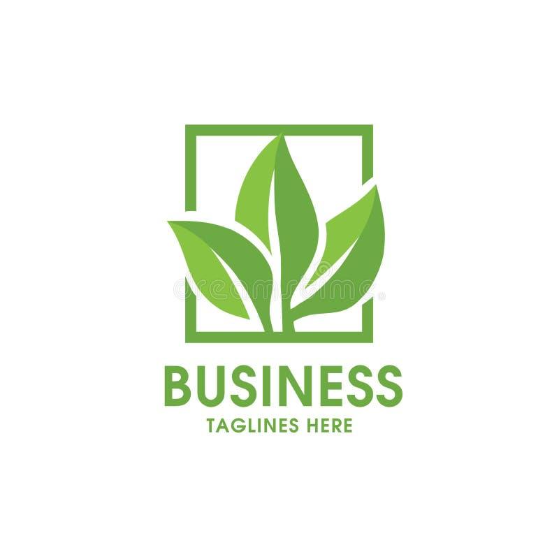 Logotipo verde da natureza da ecologia da folha ilustração royalty free