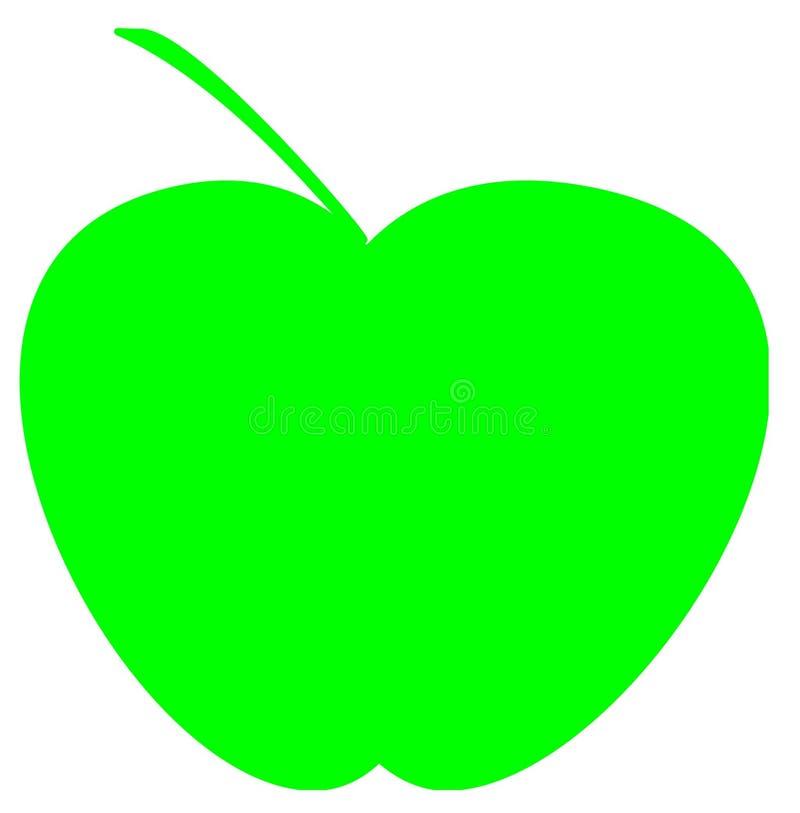 Logotipo verde das maçãs para o negócio de importação da exportação ilustração stock