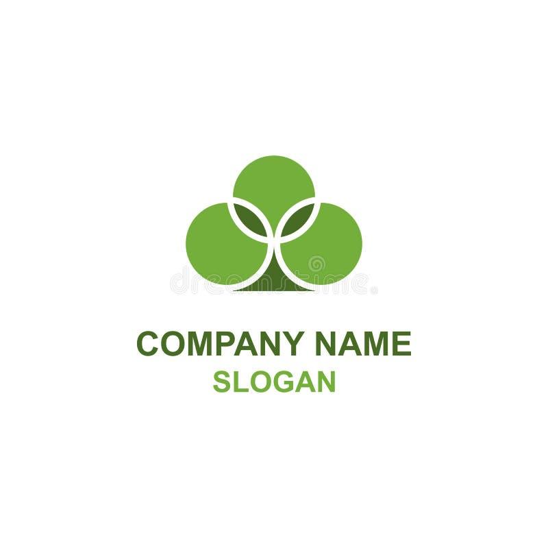 Logotipo verde de la planta de la espada ilustración del vector