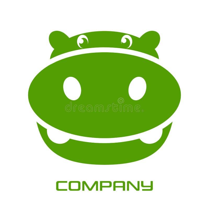 Logotipo verde del hipopótamo Ilustración del vector stock de ilustración
