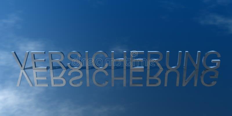 Logotipo Versicherung Blau ilustração do vetor