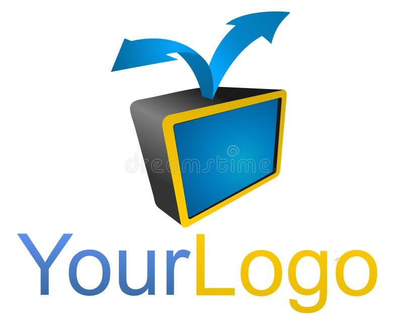 Logotipo video imagens de stock royalty free