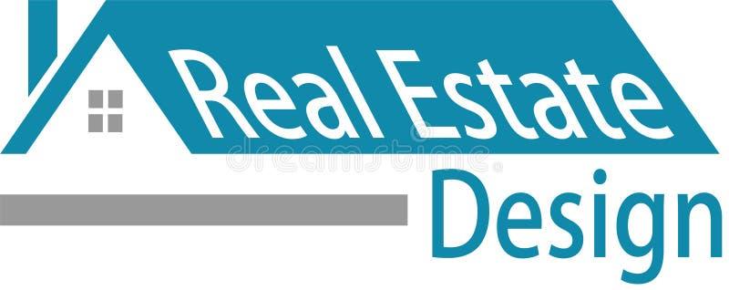 Logotipo y desaign de las propiedades inmobiliarias stock de ilustración