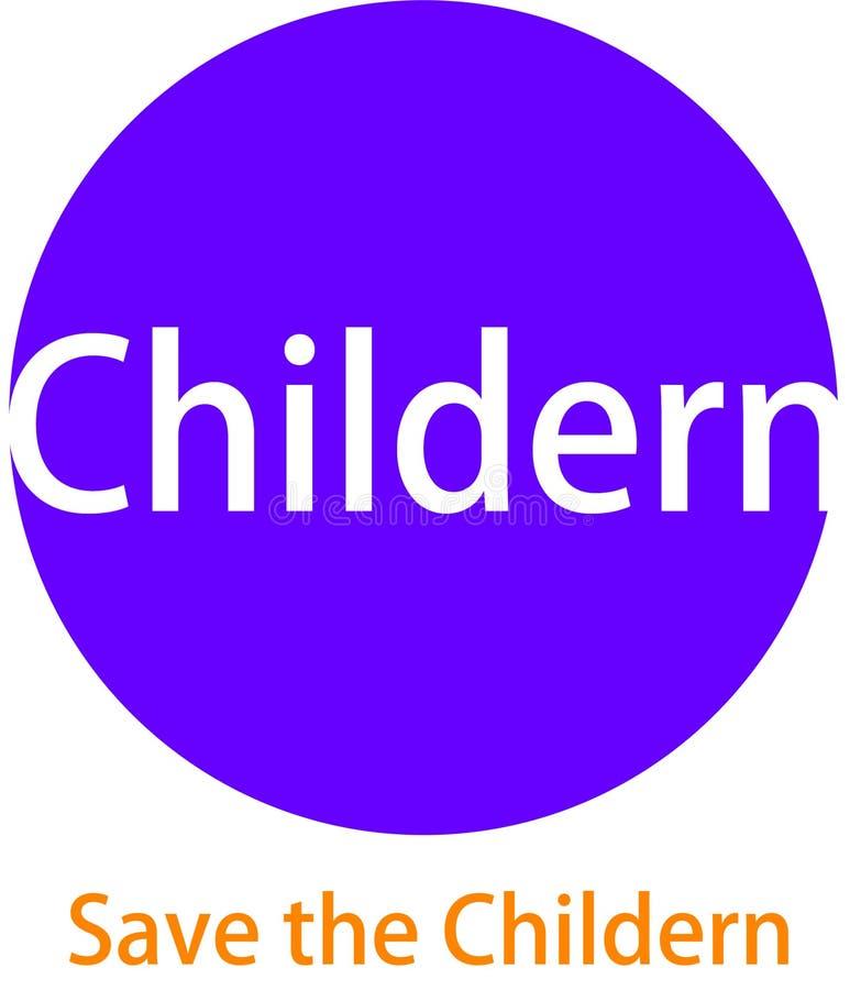 Logotipo y desaign que se calientan de Childern ilustración del vector