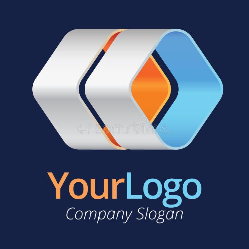 Logotipo y diseño gráfico stock de ilustración