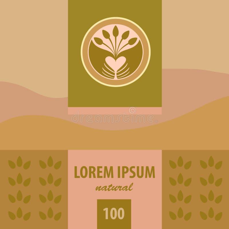 Logotipo y etiquetas del vector planting ilustración del vector